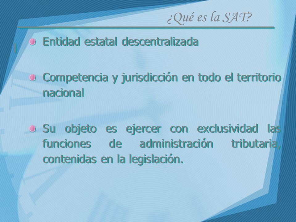Entidad estatal descentralizada Competencia y jurisdicción en todo el territorio nacional Su objeto es ejercer con exclusividad las funciones de admin