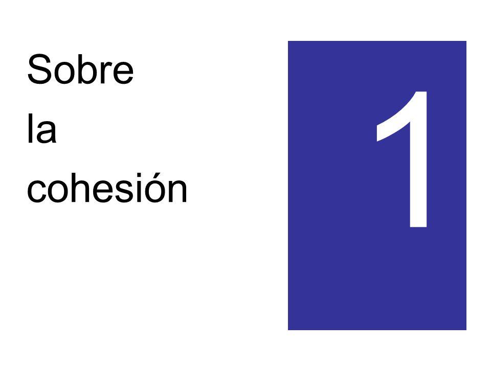 Sobre la cohesión 1