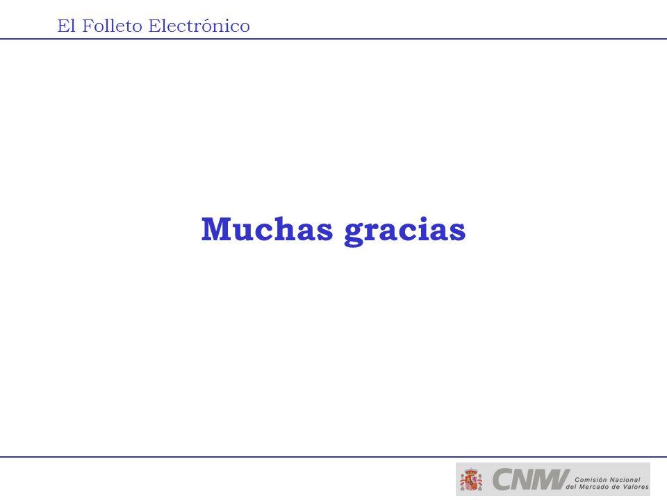 Muchas gracias El Folleto Electrónico