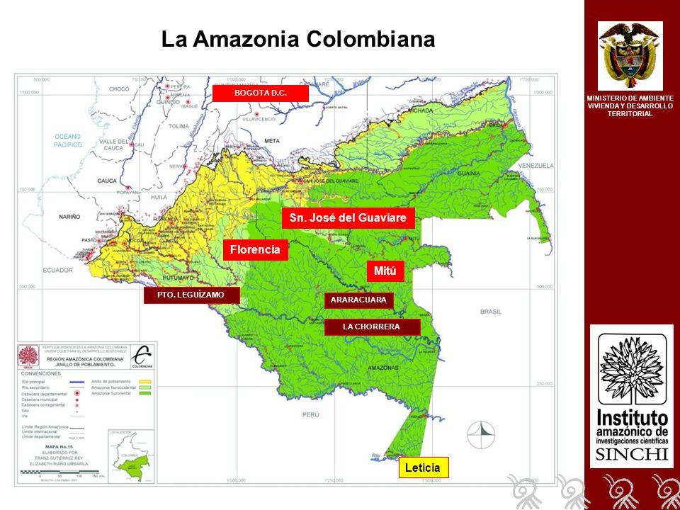 La Amazonia Colombiana Leticia Sn. José del Guaviare Mitú Florencia ARARACUARA PTO.