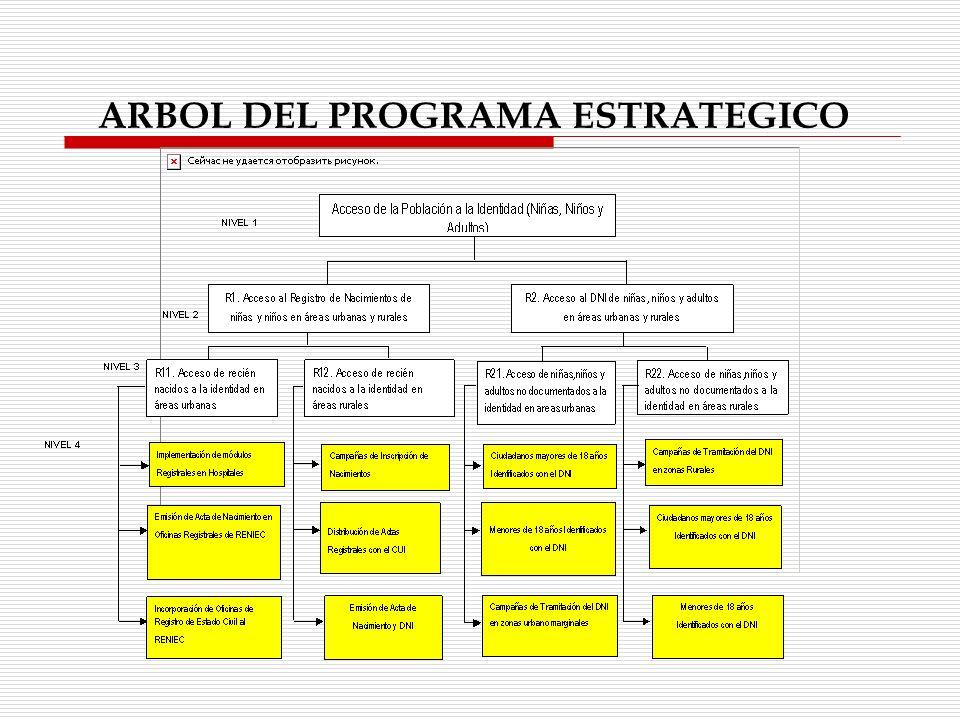 ARBOL DEL PROGRAMA ESTRATEGICO