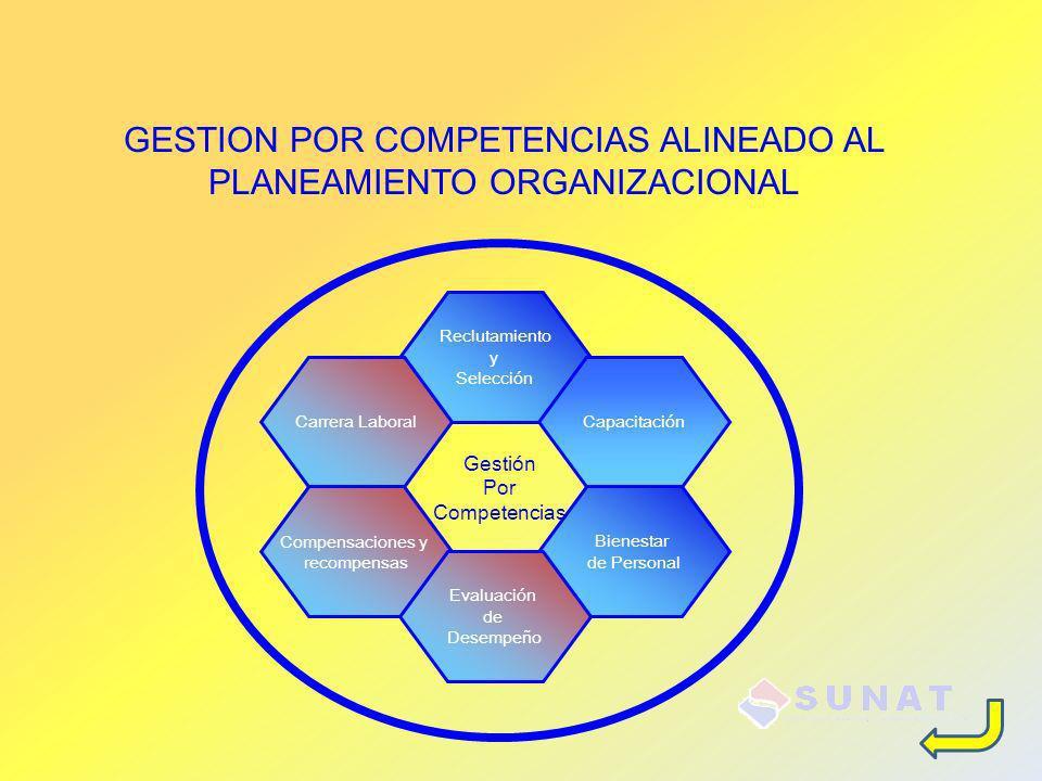 Reclutamiento y Selección CapacitaciónCarrera Laboral Compensaciones y recompensas Bienestar de Personal Evaluación de Desempeño Gestión Por Competenc