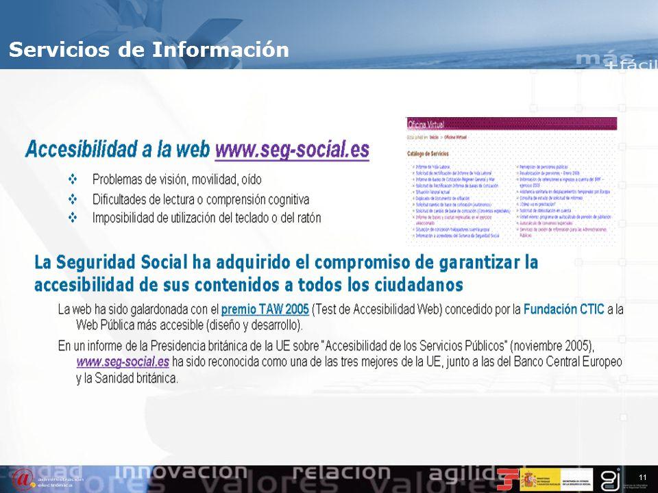 10 Servicios de Información www.seg-social.es