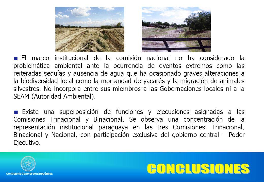 El marco institucional de la comisión nacional no ha considerado la problemática ambiental ante la ocurrencia de eventos extremos como las reiteradas