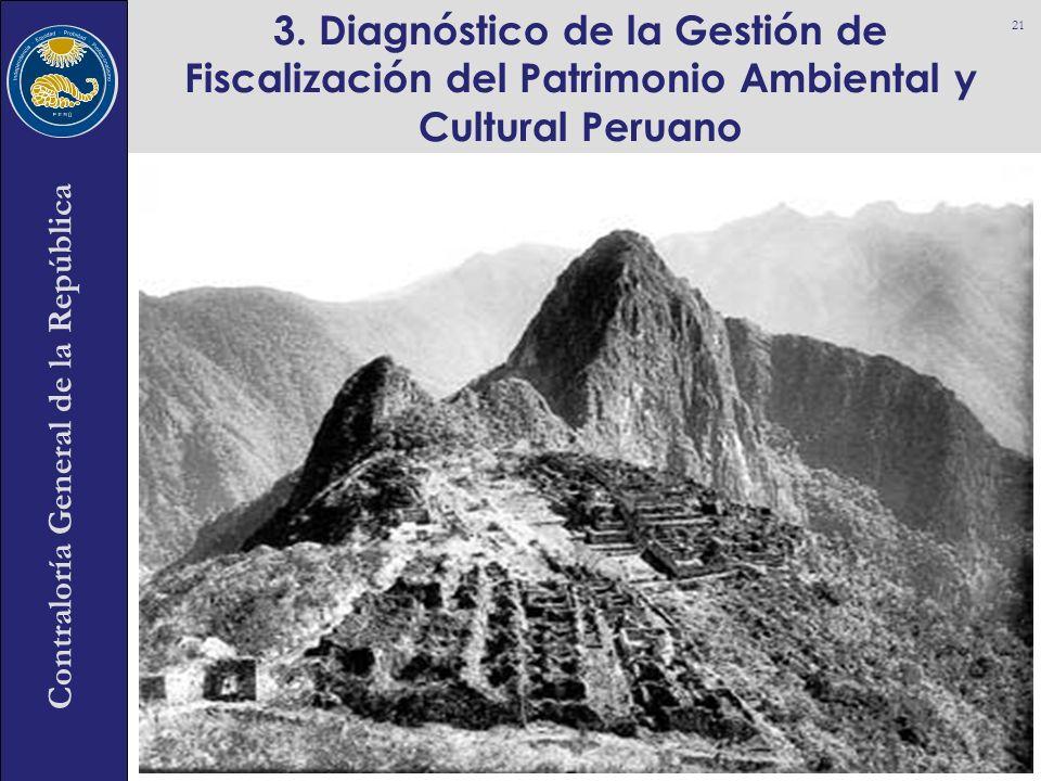 Contraloría General de la República 3. Diagnóstico de la Gestión de Fiscalización del Patrimonio Ambiental y Cultural Peruano 21