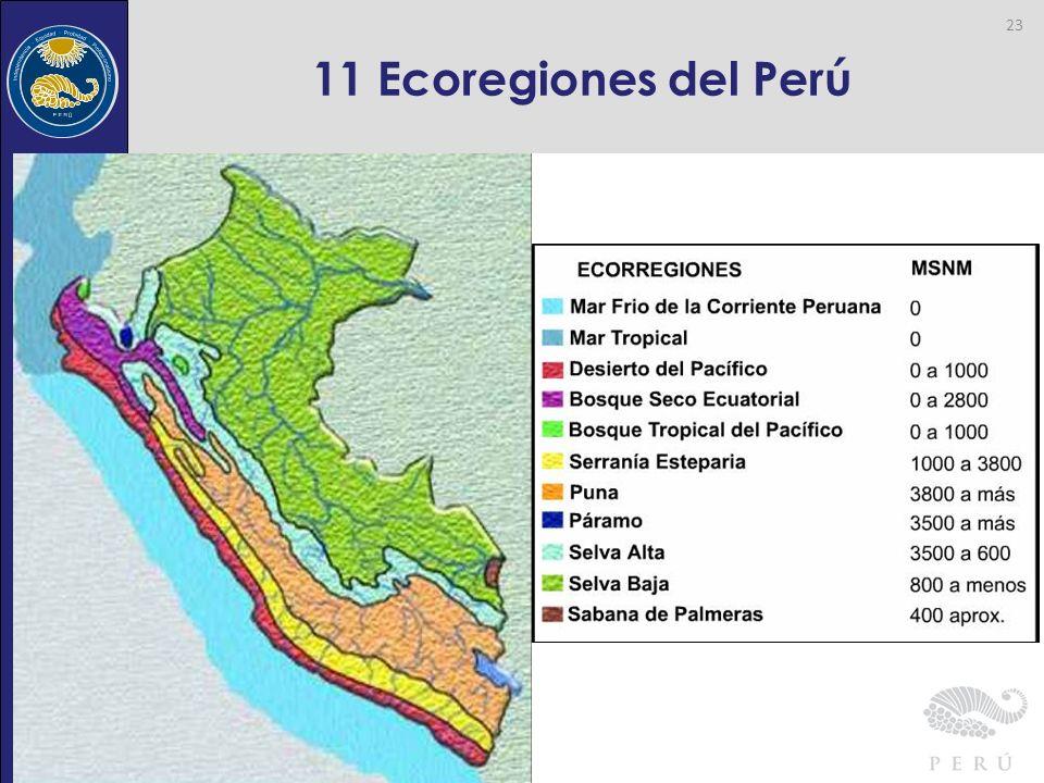 Contraloría General de la República 11 Ecoregiones del Perú 23