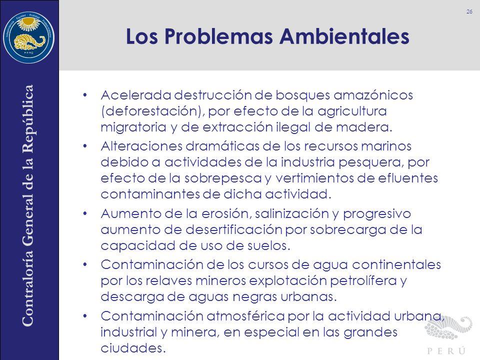 Contraloría General de la República Acelerada destrucción de bosques amazónicos (deforestación), por efecto de la agricultura migratoria y de extracci