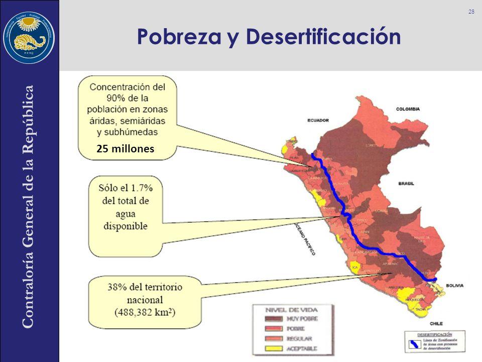Contraloría General de la República Pobreza y Desertificación 28 25 millones