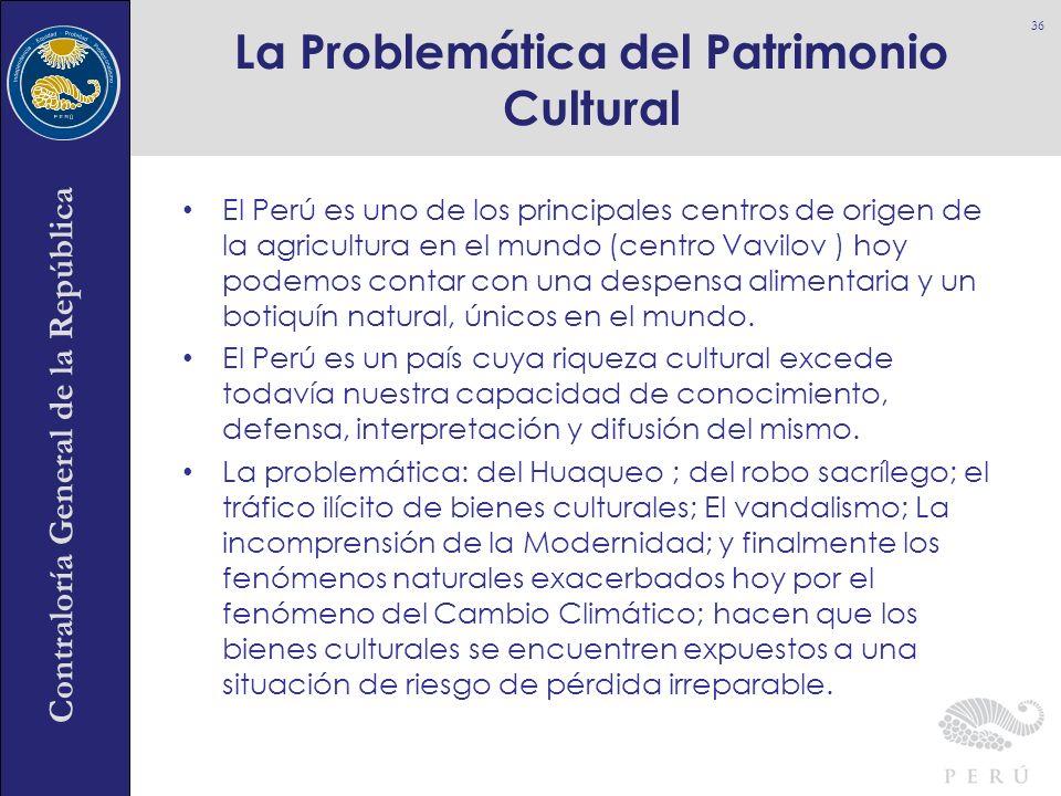 Contraloría General de la República El Perú es uno de los principales centros de origen de la agricultura en el mundo (centro Vavilov ) hoy podemos co