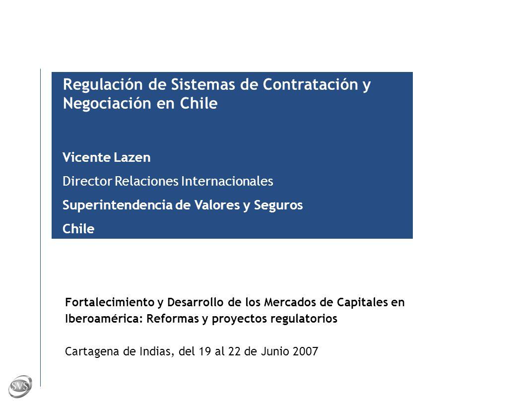 S U P E R I N T E N D E N C I A D E V A L O R E S Y S E G U R O S – C H I L E 26 Posibles nuevas regulaciones Definir áreas de mayor riesgo, permitiendo que el intermediario sea responsable por mitigar los riesgos aplicables (vg.
