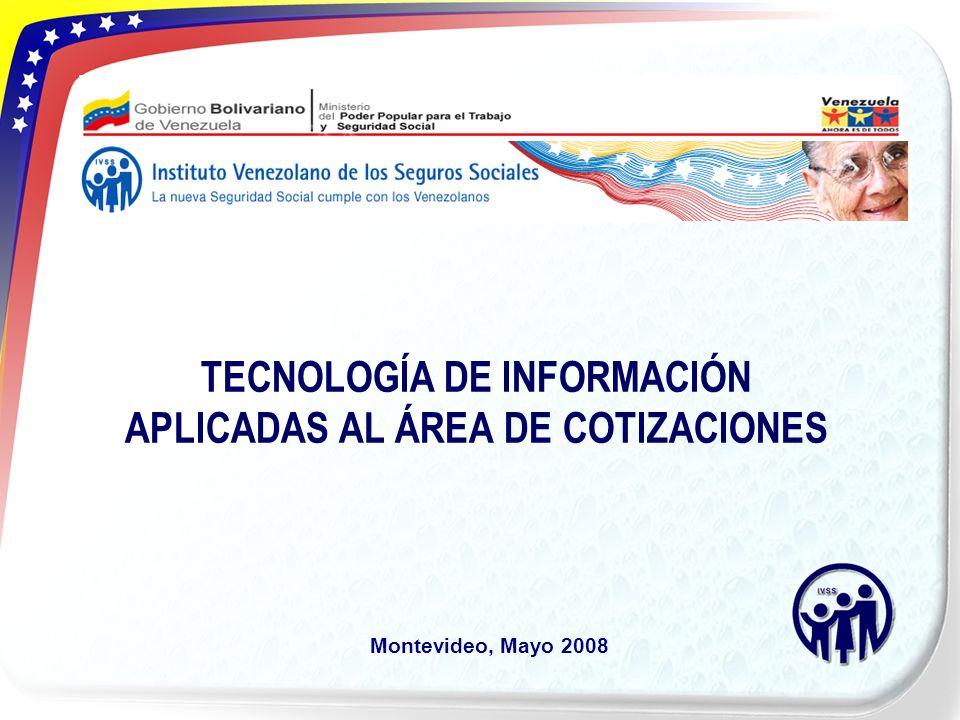 TECNOLOGÍA DE INFORMACIÓN APLICADAS AL ÁREA DE COTIZACIONES Montevideo, Mayo 2008