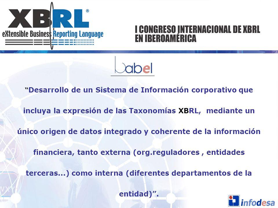 Desarrollo de un Sistema de Información corporativo que incluya la expresión de las Taxonomías XBRL, mediante un único origen de datos integrado y coh