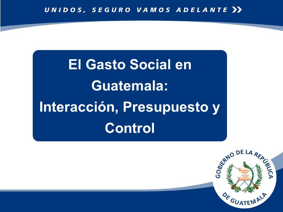 AMBITO El Gasto Social se comienza a identificar en Guatemala a partir de la Firma de los Acuerdos de Paz en 1995, que ha permitido conocer hacia donde se orientan los recursos públicos