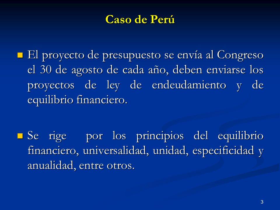 3 El proyecto de presupuesto se envía al Congreso el 30 de agosto de cada año, deben enviarse los proyectos de ley de endeudamiento y de equilibrio financiero.