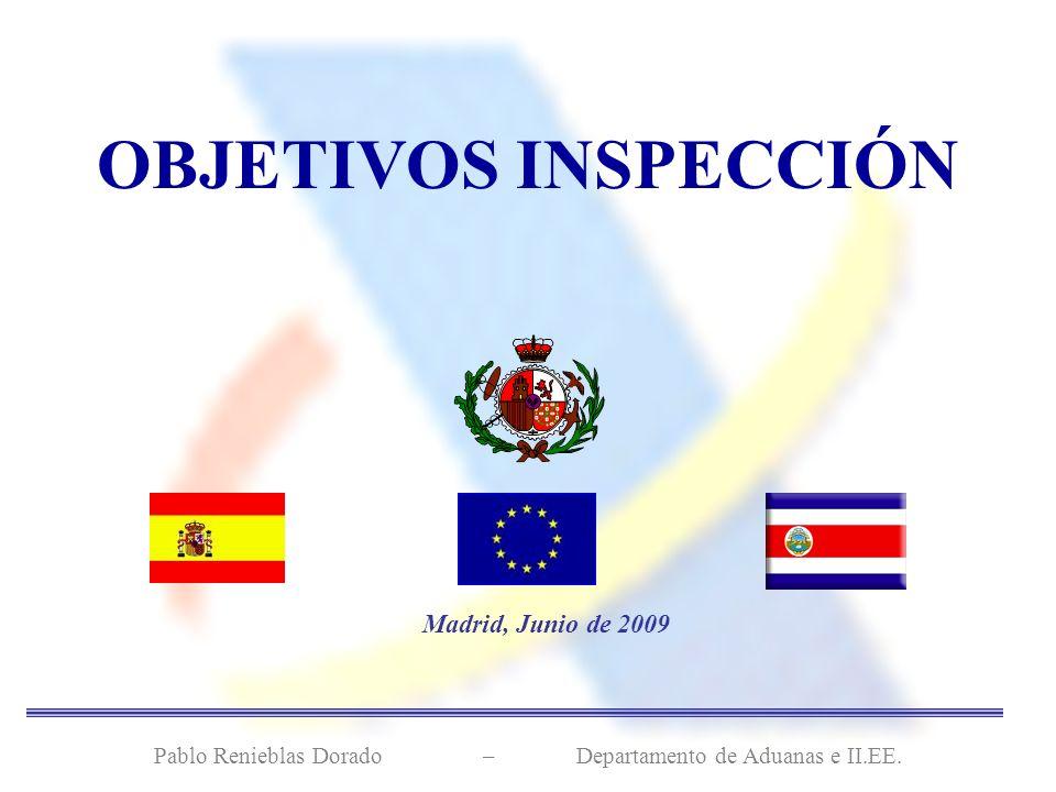Madrid, Junio de 2009 Pablo Renieblas Dorado – Departamento de Aduanas e II.EE. OBJETIVOS INSPECCIÓN