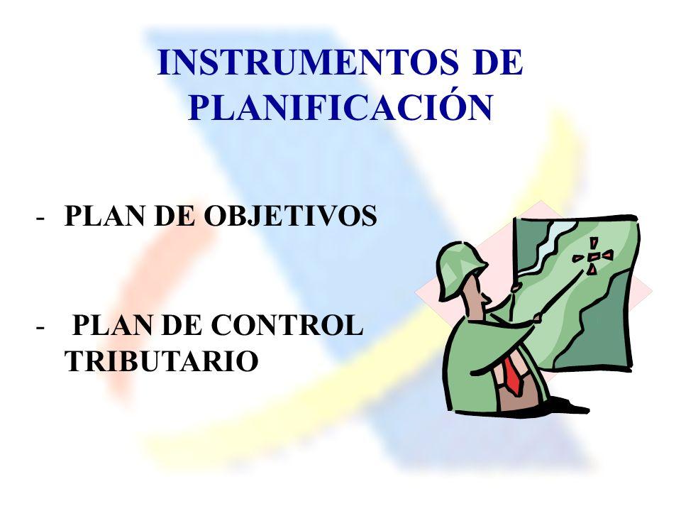 INSTRUMENTOS DE PLANIFICACIÓN -PLAN DE OBJETIVOS - PLAN DE CONTROL TRIBUTARIO