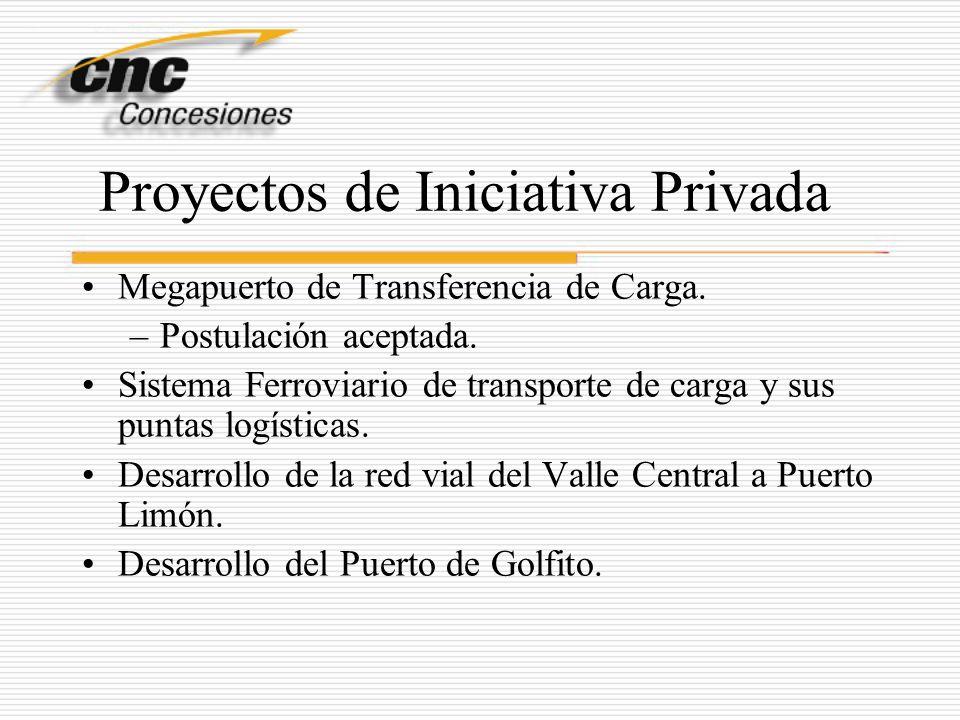 Proyectos de Iniciativa Privada Megapuerto de Transferencia de Carga. –Postulación aceptada. Sistema Ferroviario de transporte de carga y sus puntas l