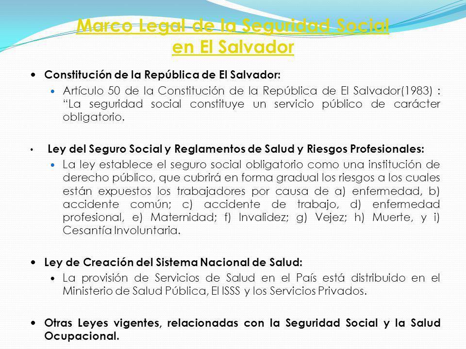 Marco Legal de la Seguridad Social en El Salvador Constitución de la República de El Salvador: Artículo 50 de la Constitución de la República de El Sa