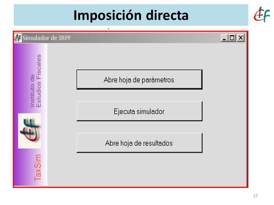 23 Imposición directa