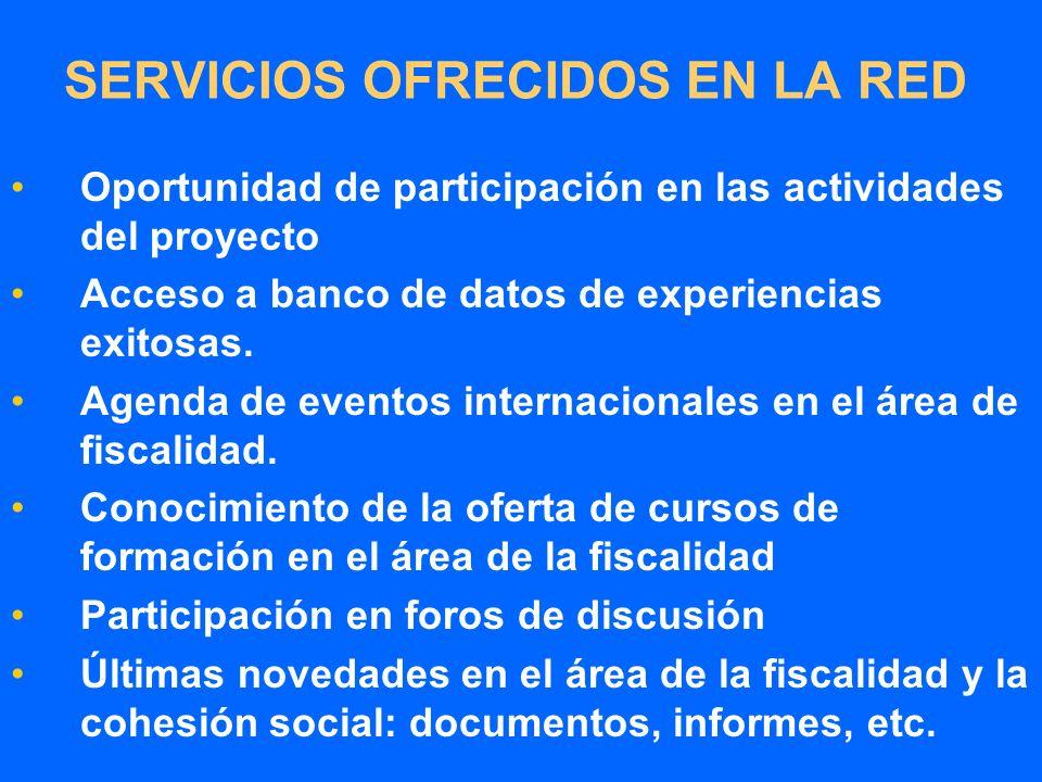 Oportunidad de participación en las actividades del proyecto Acceso a banco de datos de experiencias exitosas.
