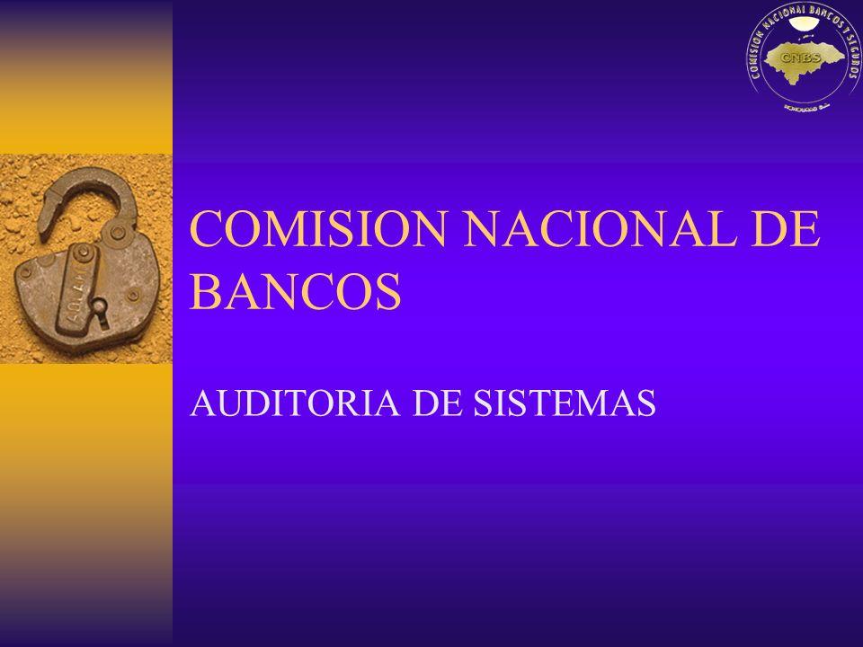 COMISION NACIONAL DE BANCOS AUDITORIA DE SISTEMAS