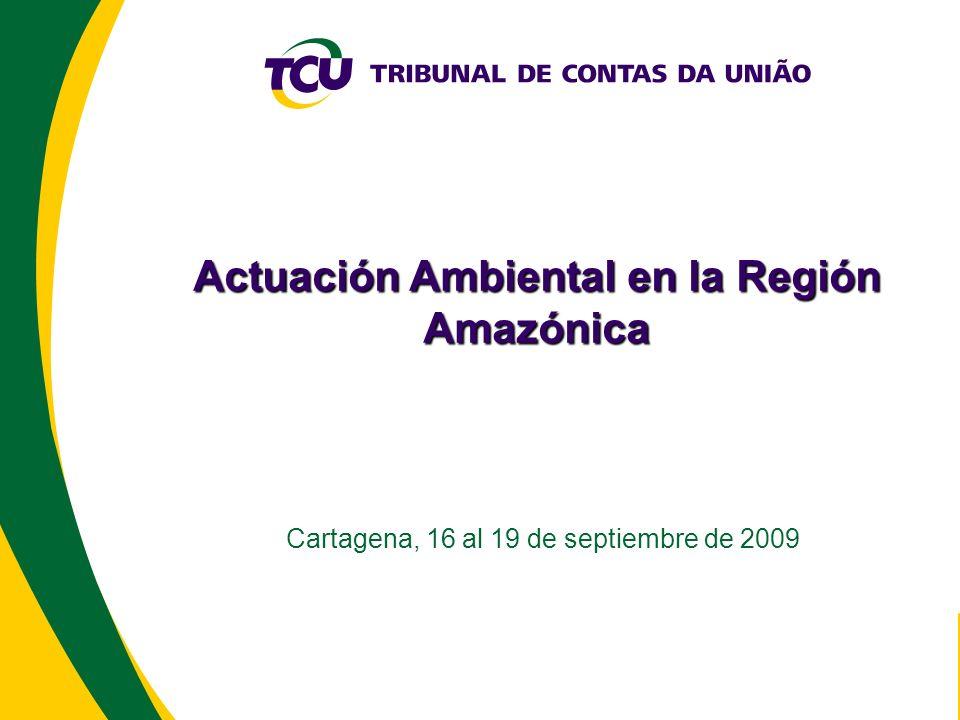 Actuación Ambiental en la Región Amazónica Cartagena, 16 al 19 de septiembre de 2009