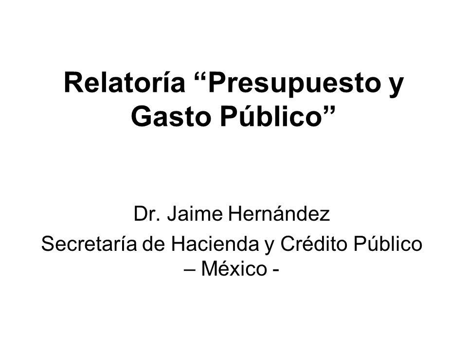 Relatoría Presupuesto y Gasto Público Dr.