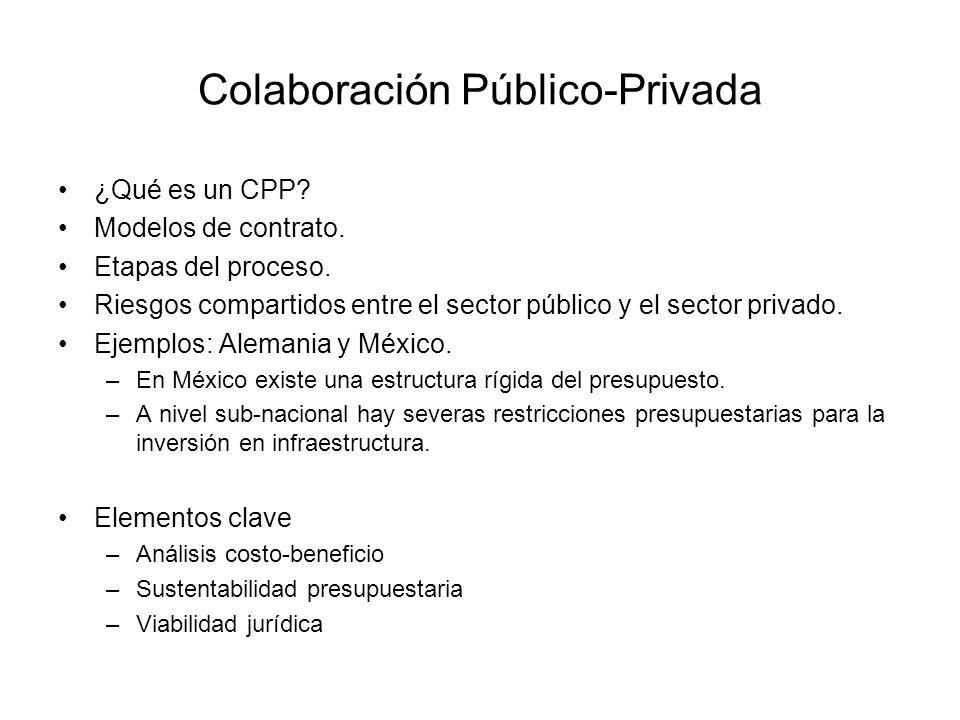 Colaboración Público-Privada ¿Qué es un CPP.Modelos de contrato.
