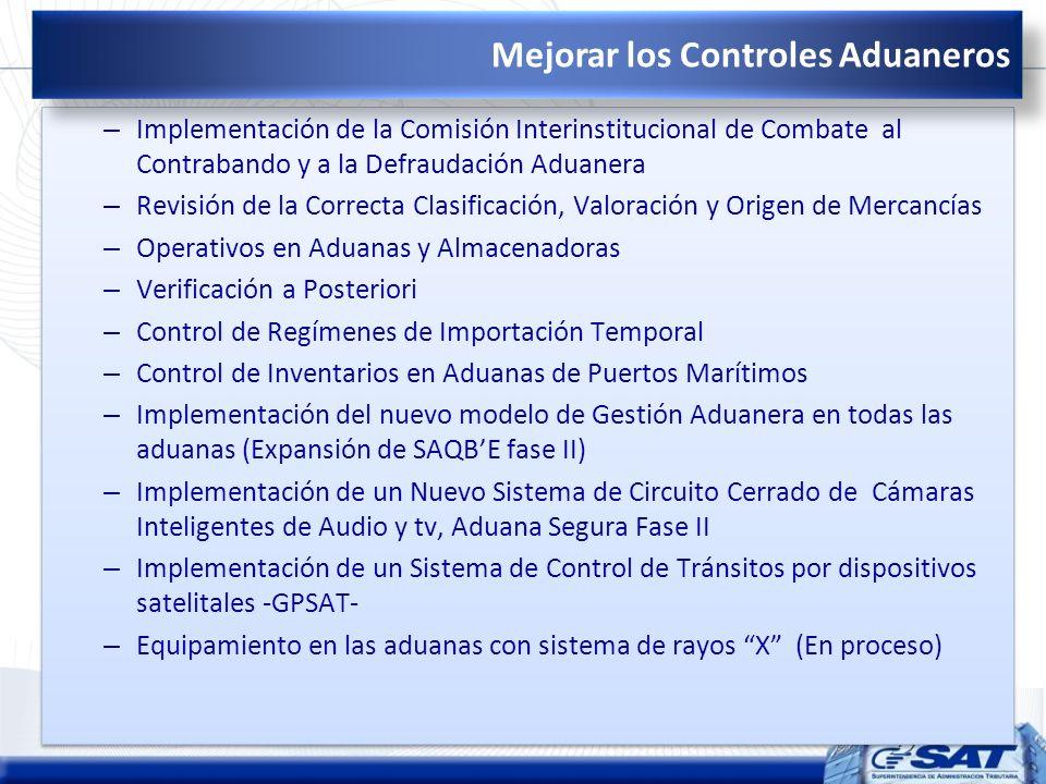 – Implementación de la Comisión Interinstitucional de Combate al Contrabando y a la Defraudación Aduanera – Revisión de la Correcta Clasificación, Val