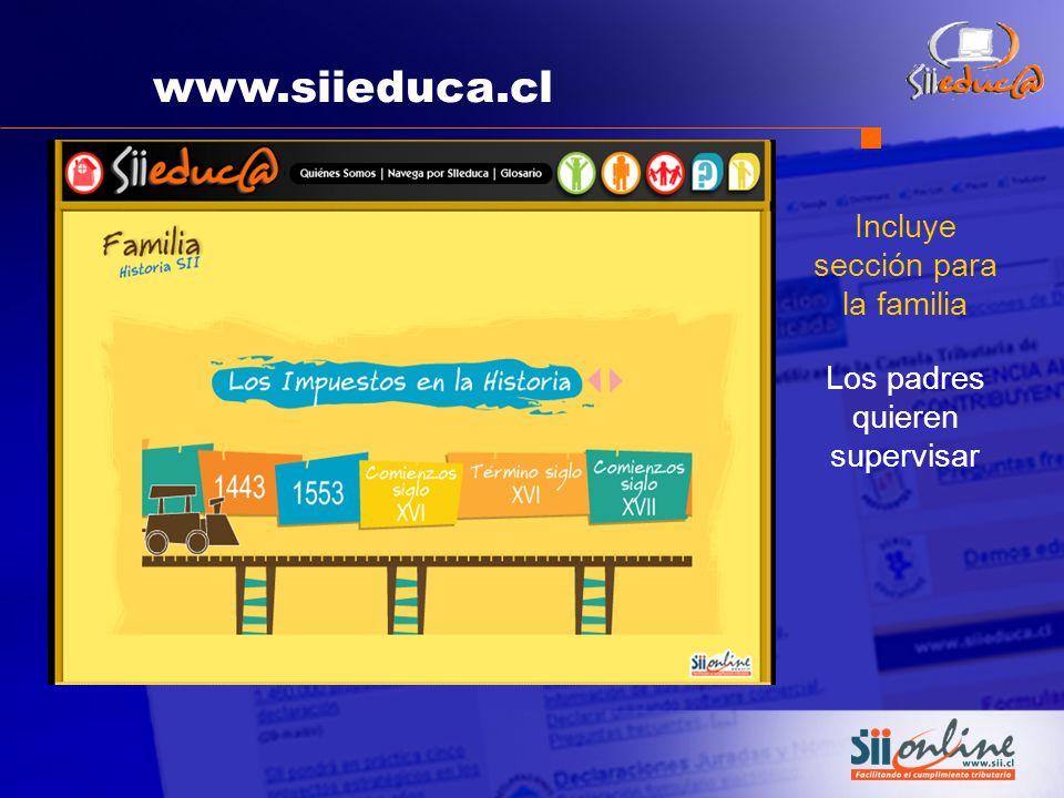 www.siieduca.cl Incluye sección para la familia Los padres quieren supervisar
