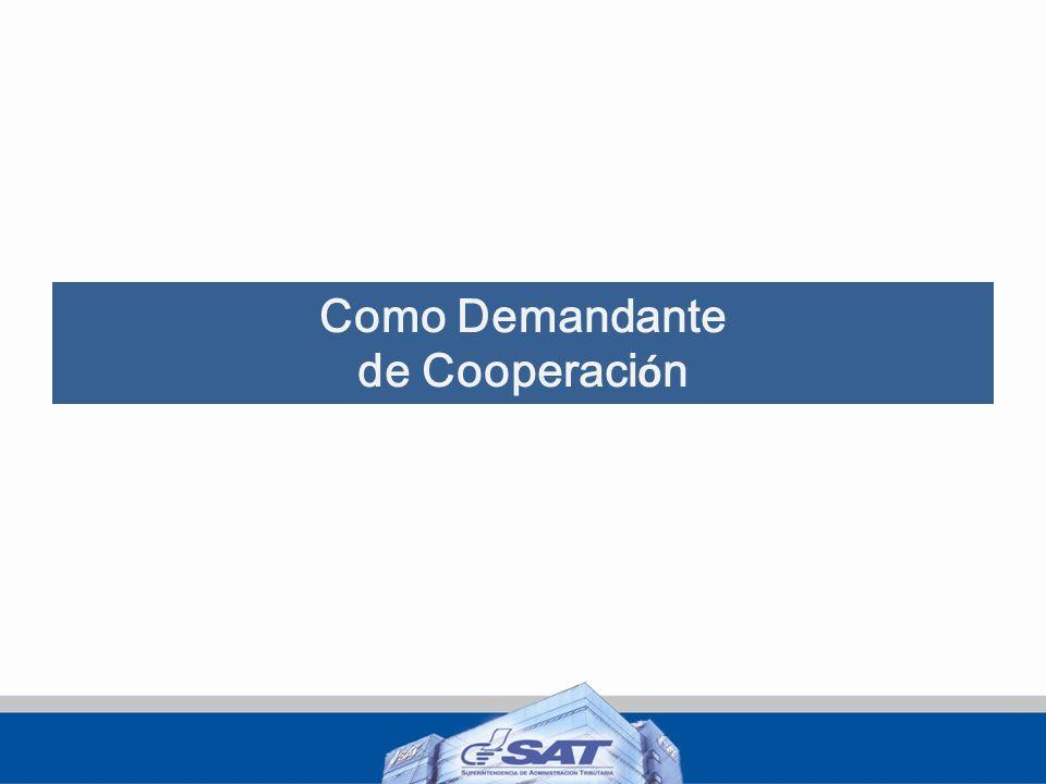 Como Demandante de Cooperaci ó n