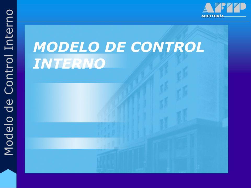 AUDITORÍA MODELO DE CONTROL INTERNO