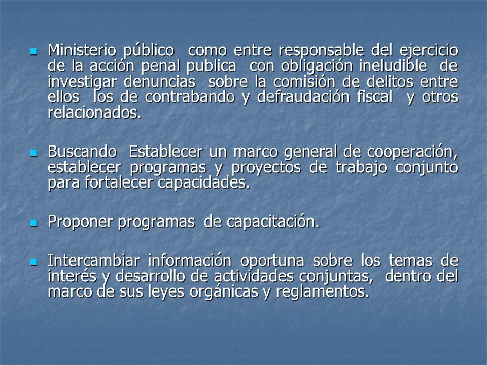Ministerio público como entre responsable del ejercicio de la acción penal publica con obligación ineludible de investigar denuncias sobre la comisión