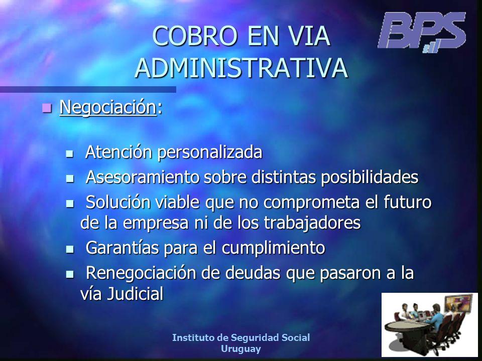 20 Instituto de Seguridad Social Uruguay COBRO EN VIA ADMINISTRATIVA Negociación: Negociación: Atención personalizada Atención personalizada Asesorami