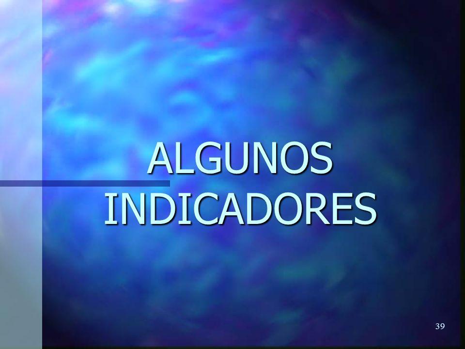 39 ALGUNOS INDICADORES