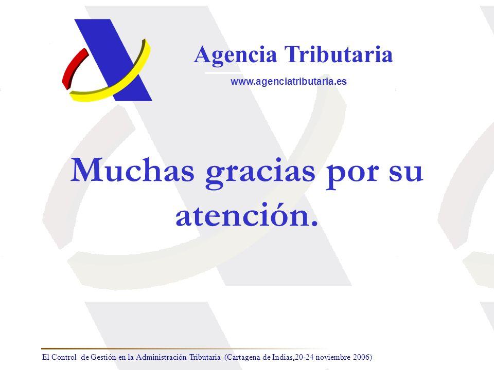 El Control de Gestión en la Administración Tributaria (Cartagena de Indias,20-24 noviembre 2006) Agencia Tributaria www.agenciatributaria.es Muchas gr
