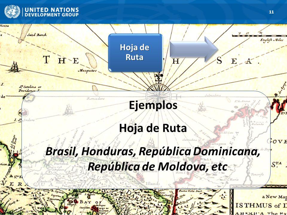 11 Hoja de Ruta Ejemplos Hoja de Ruta Brasil, Honduras, República Dominicana, República de Moldova, etc