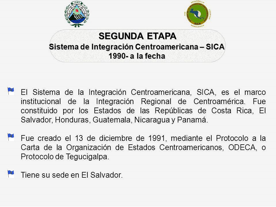 El Sistema de la Integración Centroamericana, SICA, es el marco institucional de la Integración Regional de Centroamérica. Fue constituido por los Est