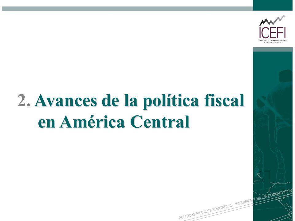 Avances de la política fiscal en América Central 2. Avances de la política fiscal en América Central