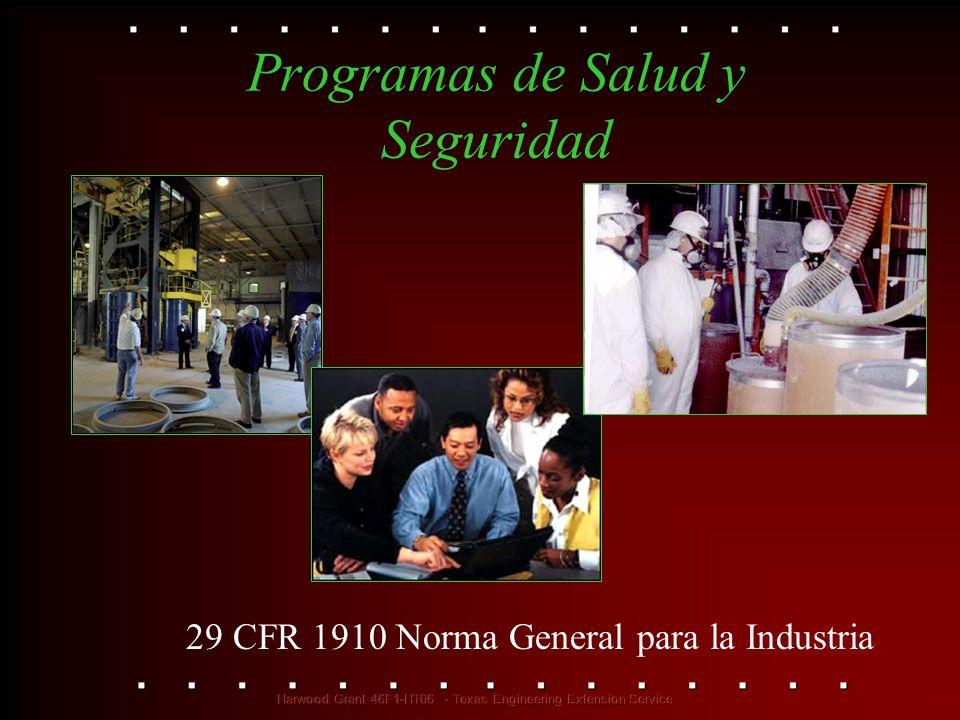 Programas de Salud y Seguridad 29 CFR 1910 Norma General para la Industria