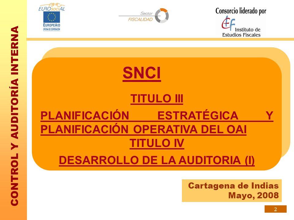 CONTROL Y AUDITORÍA INTERNA 33 CONCEPTOS BÁSICOS La planificación de las actuaciones es en gran medida la planificación de las pruebas de auditoría a desarrollar durante de la actuación.