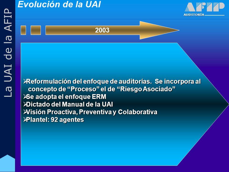 AUDITORÍA La UAI de la AFIP Reformulación del enfoque de auditorías.