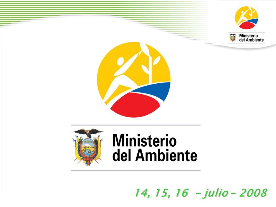 MINISTERIO DEL AMBIENTE www.ambiente.gov.ec