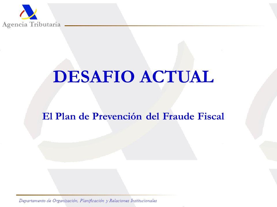 Agencia Tributaria Departamento de Organización, Planificación y Relaciones Institucionales La opinión del ciudadano Satisfecho o muy satisfecho 1997