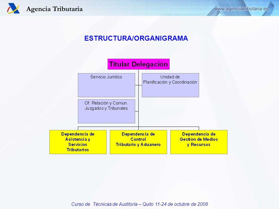 Curso de Técnicas de Auditoría – Quito 11-24 de octubre de 2008 ESTRUCTURA/ORGANIGRAMA