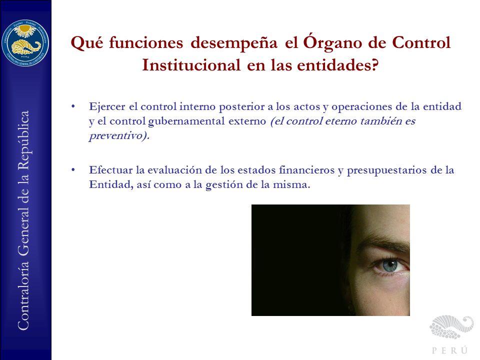Contraloría General de la República Cual es la relación del titular del OCI con la Entidad y con la Contraloría General de la República.