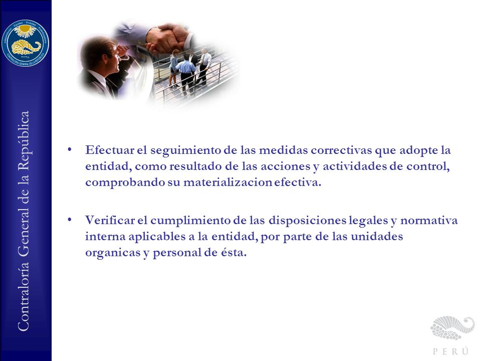 Contraloría General de la República Qué entidades tienen la obligación de contar con un Órgano de Control Institucional.