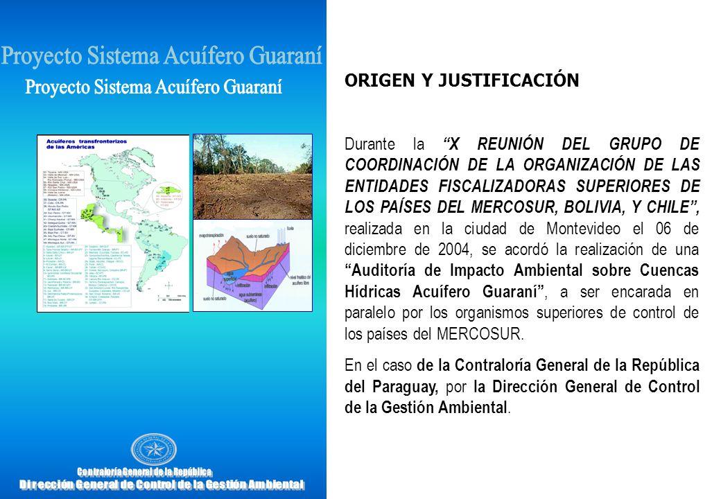 OBJETIVOS General Evaluar la gestión de la Secretaría del Ambiente, organismo responsable por el Paraguay del Proyecto para la Protección Ambiental y Desarrollo Sostenible del Sistema Acuífero Guaraní.