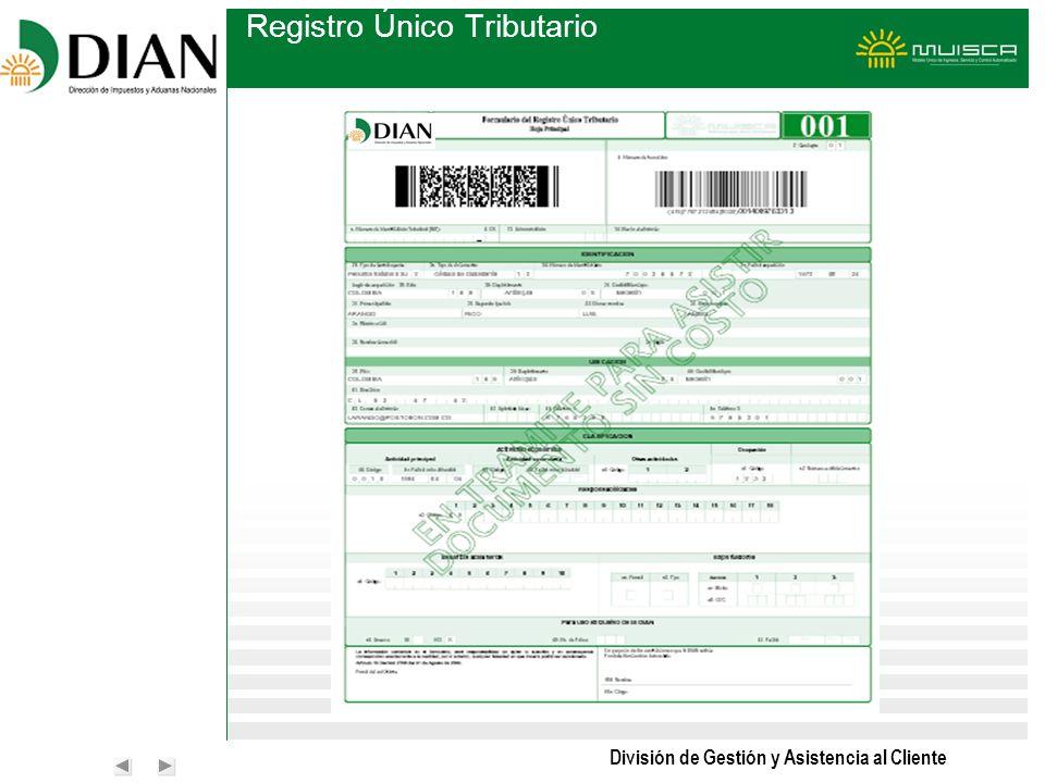 División de Gestión y Asistencia al Cliente Registro Único Tributario