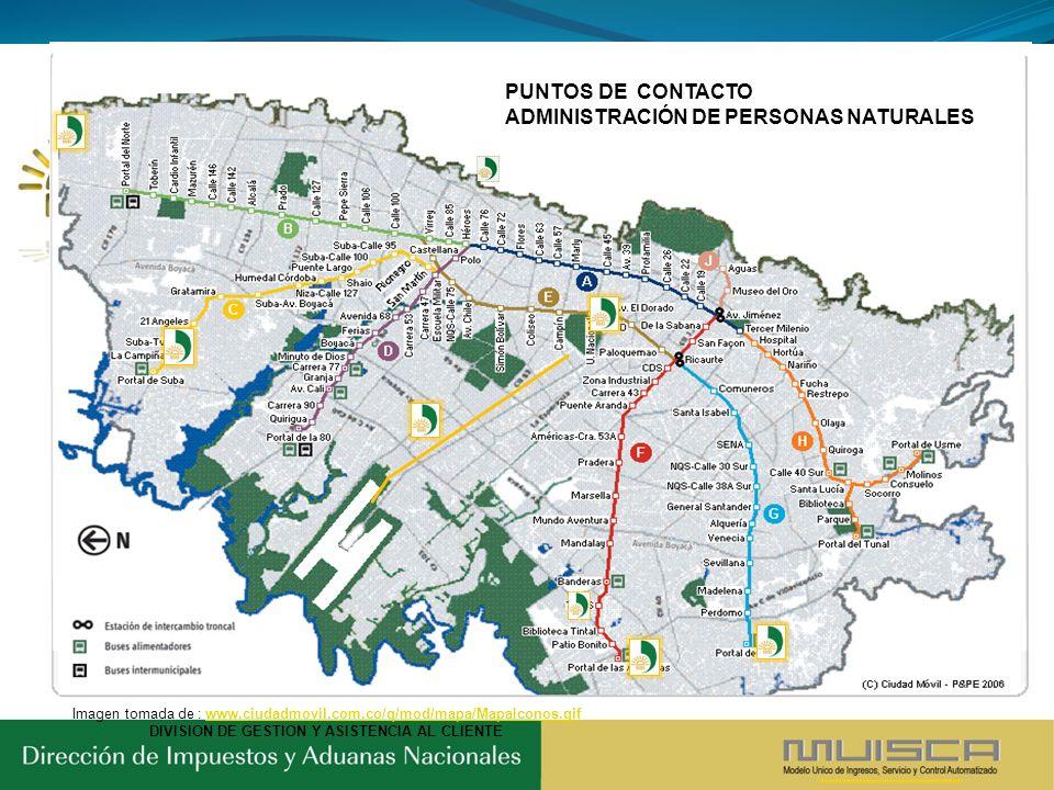 Imagen tomada de : www.ciudadmovil.com.co/q/mod/mapa/MapaIconos.gifwww.ciudadmovil.com.co/q/mod/mapa/MapaIconos.gif DIVISION DE GESTION Y ASISTENCIA A